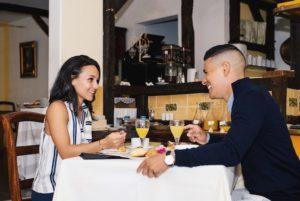 couple au restaurant Cilaos