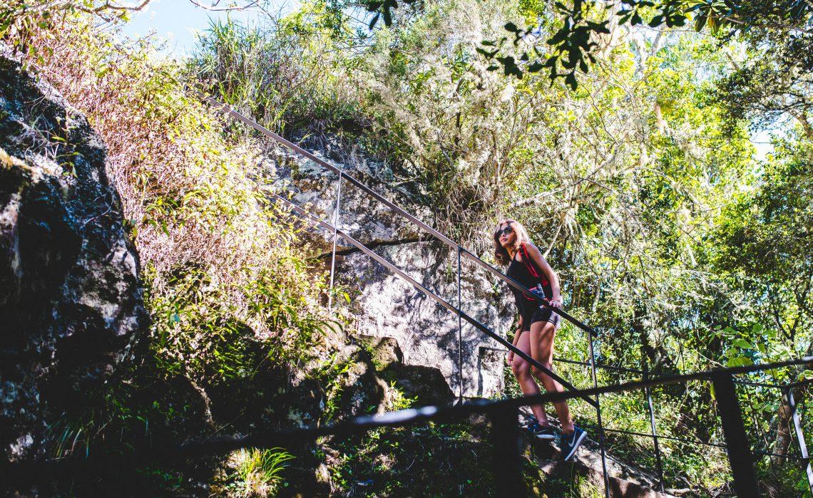 Randonnée dans escaliers à Cilaos