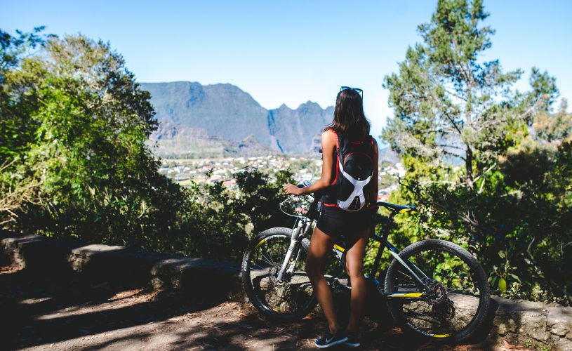 Randonnée en vélo avec vue sur Cilaos